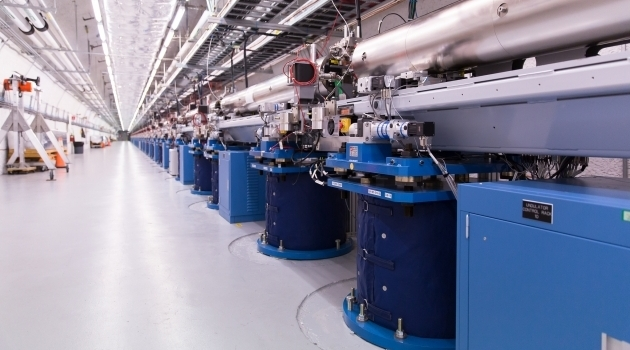 The free-electron laser at Stanford University.
