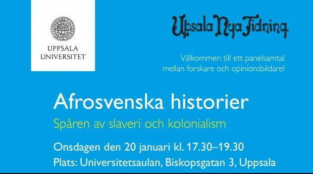 """Affisch för evenemanget """"Afrosvenska historier""""."""