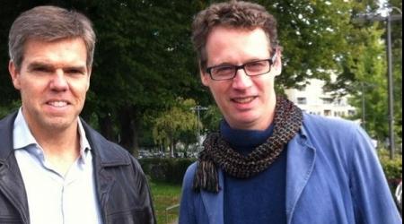 Professor Magnus Essand and Alexander Masters.