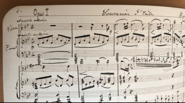 Music notes written by Hugo Alfvén