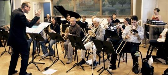 Uppsala University Jazz Orchestra spelar på Musicum under Kulturnatten.