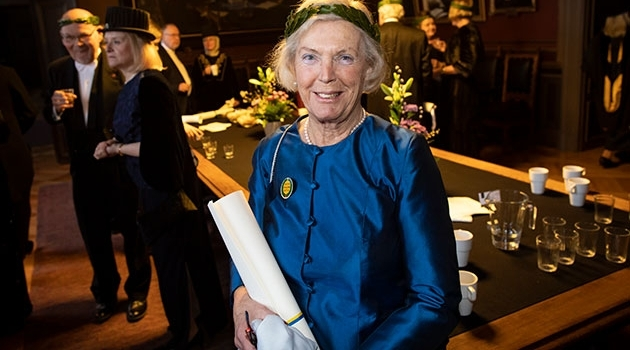Lena Fries-Gedin efter promotionshögtiden.