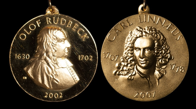 Uppsala University's Rudbeck and Linnaeus medals.