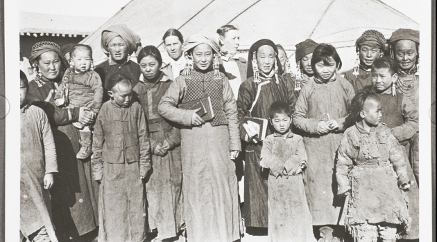 Photo from the collection representing mongolian people.