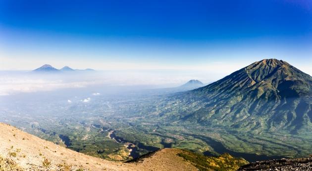 Vulkanen Merapi. Foto.