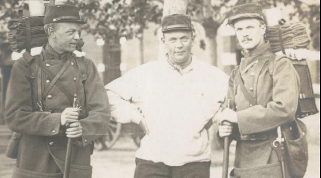 Elow Nilson, Sven Blom och Henrik von Krogh, 1914
