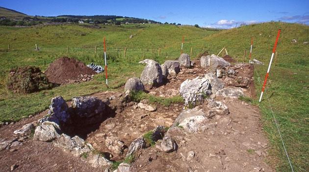 gravformation på ett fält