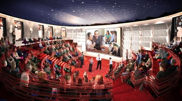 Skissbild Humanistiska teatern. White Arkitekter