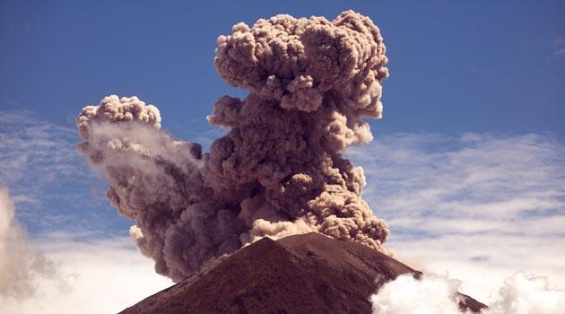 A volcano.