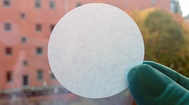 Paper filter made from Pithophora algae.