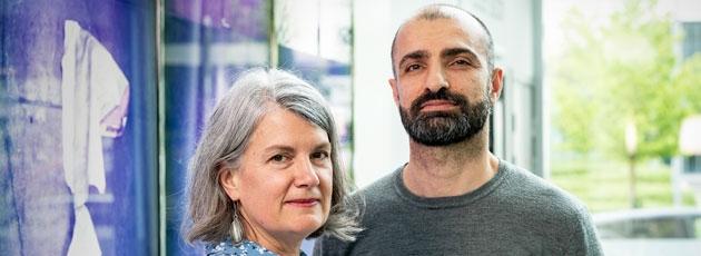 Porträtt av Anne Reath Warren och Hassan Sharif,