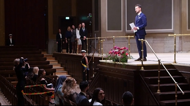 Examensceremoni i Uppsala universitets aula
