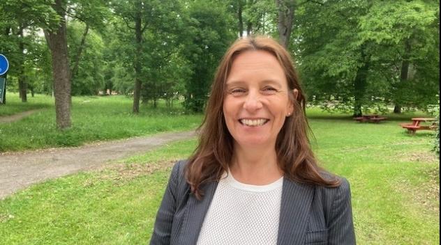 Cecilia Natvig, chef vid avdelningen för media vid Uppsala universitetsbibliotek