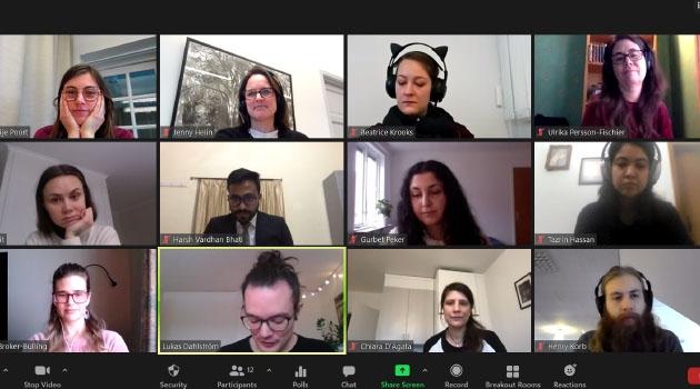 Digitalt möte med forskarskolan inom hållbar utveckling