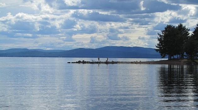 Sjön Siljan, Dalarna, Sverige