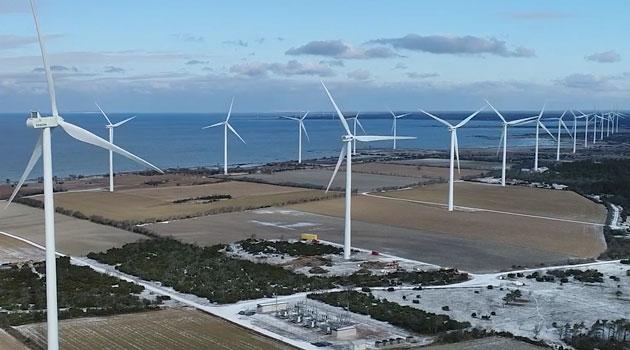 En vindkraftpark