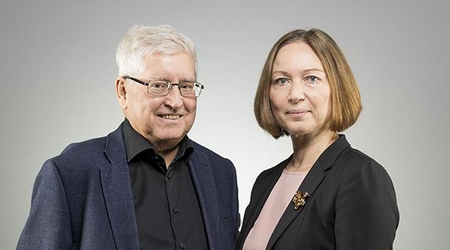 Fotografi på Carl-Henric Grenholm och Elena Namli
