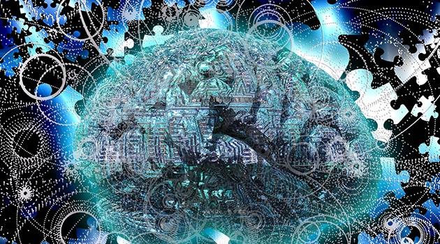 Illustration av den komplexa hjärnan