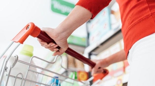 women with a shopping cart