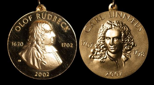 Uppsala University's Rudbeck and Linnaeus medals.