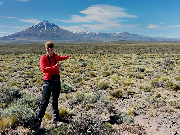 Steffi Burchardt at Payun in Argentina.