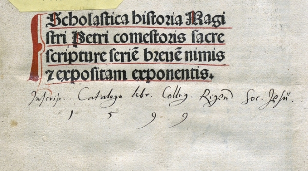 owners inscription in a book from Riga Jesuit College