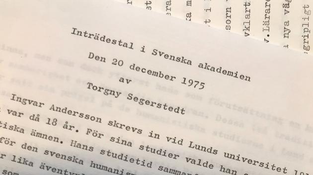 detail of manuscript by Segerstedt