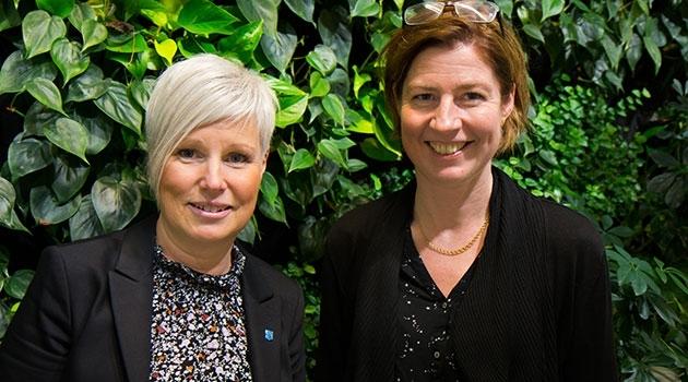 Porträtt av Ingela Hagström och Anna Rutgersson.
