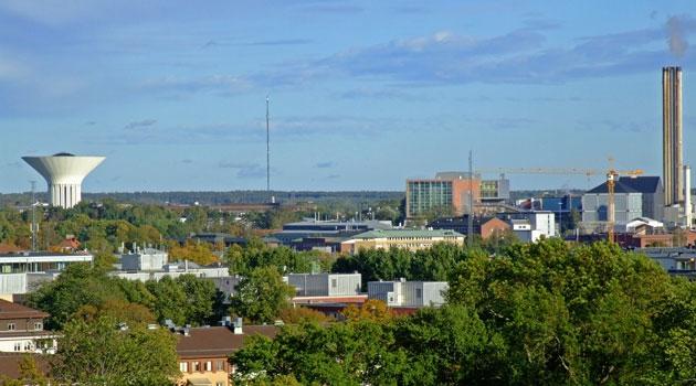 Vy över Uppsala stad