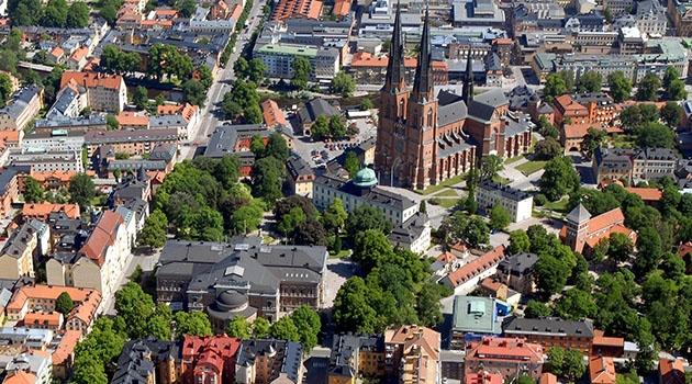 Vy över Uppsalas centrum