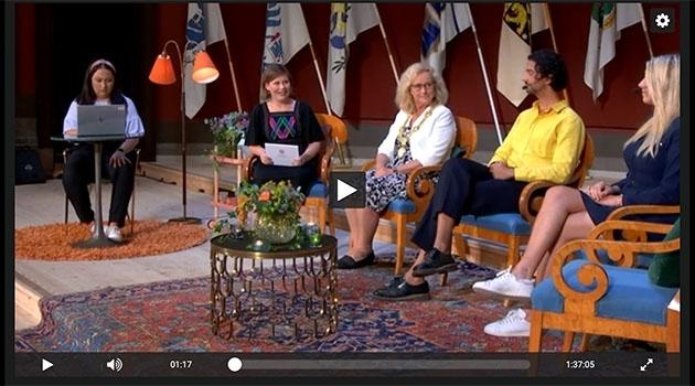 Digital talk show at the Grand Auditorium, University Main building