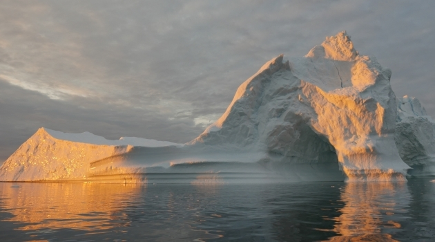 Iceberg in sunshine