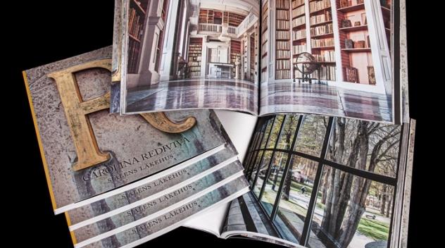 uppslag och omslag ur boken Carolina Rediviva